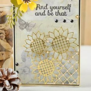 Other - Beautiful Card Front Sunflower Metal Die